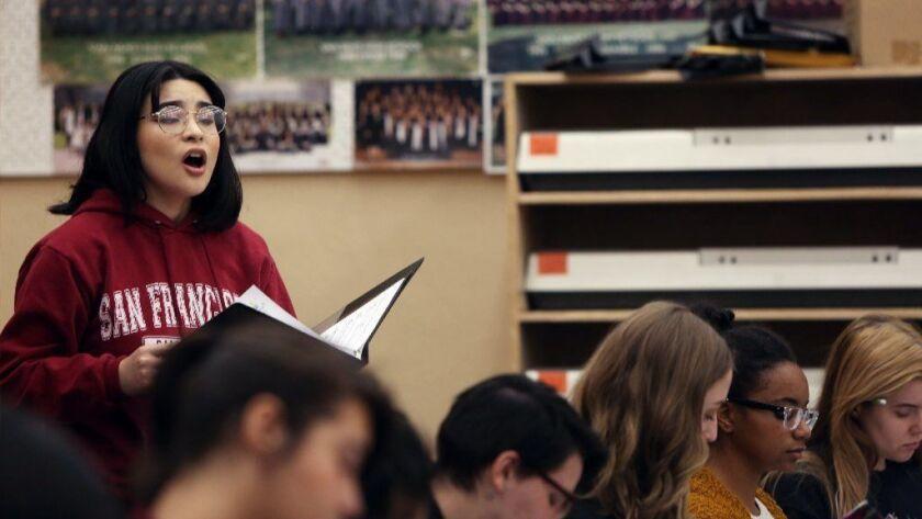 A Van Nuys student 'Walkout': East L.A. and Parkland activists inspire school choir