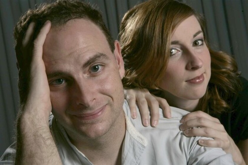 FUNDING WAS KEY: Writer-performers Jake Broder and Vanessa Claire Smith overcame many obstacles to tell the story of the popular 1950s Vegas act.