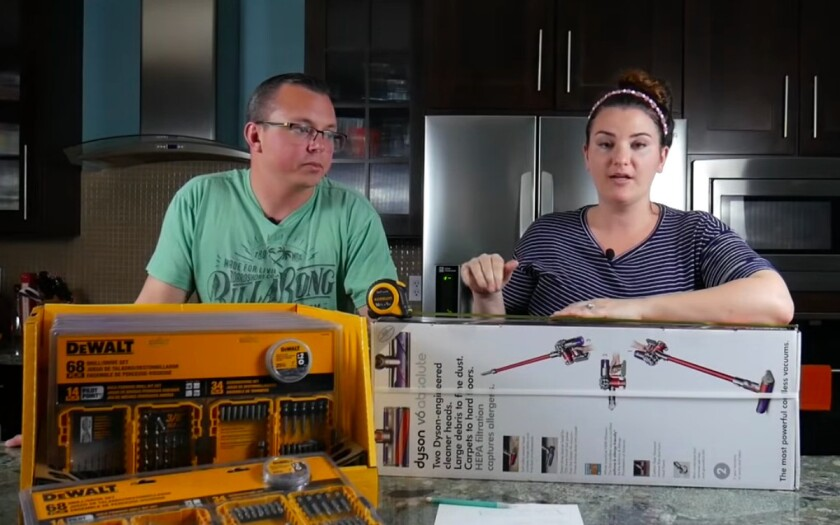 """Juston and Kristen Herbert explain how they make a big profits by shopping in the clearance aisle on their YouTube channel """"Flipping Profits."""""""