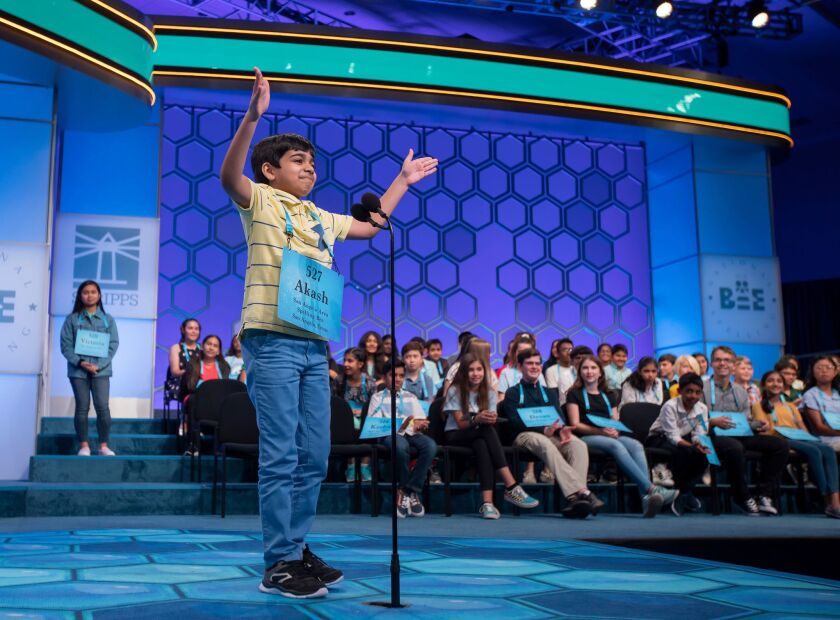2019 Scripps National Spelling Bee at National Harbor on Oxon Hill, Maryland, USA - 29 May 2019