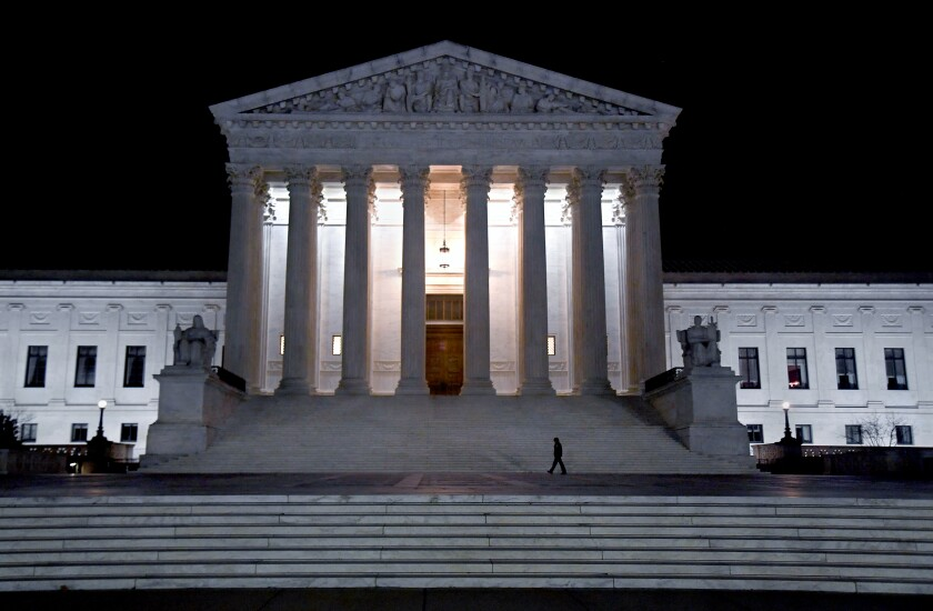 The Supreme Court building.