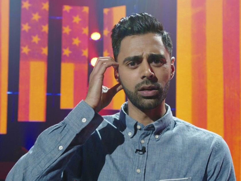 "Comedian Hasan Minhaj stars in the 2017 Netflix comedy special ""Homecoming King."""
