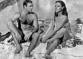 """Actress: Claudine Auger Bond girl name: Dominique 'Domino' Derval Movie: """"Thunderball"""" James Bond: Sean Connery Year: 1965"""