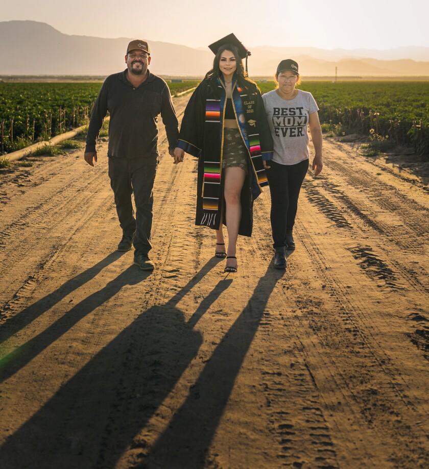 Jennifer Rocha and her parents Jose Juan and Angelica Maria Rocha