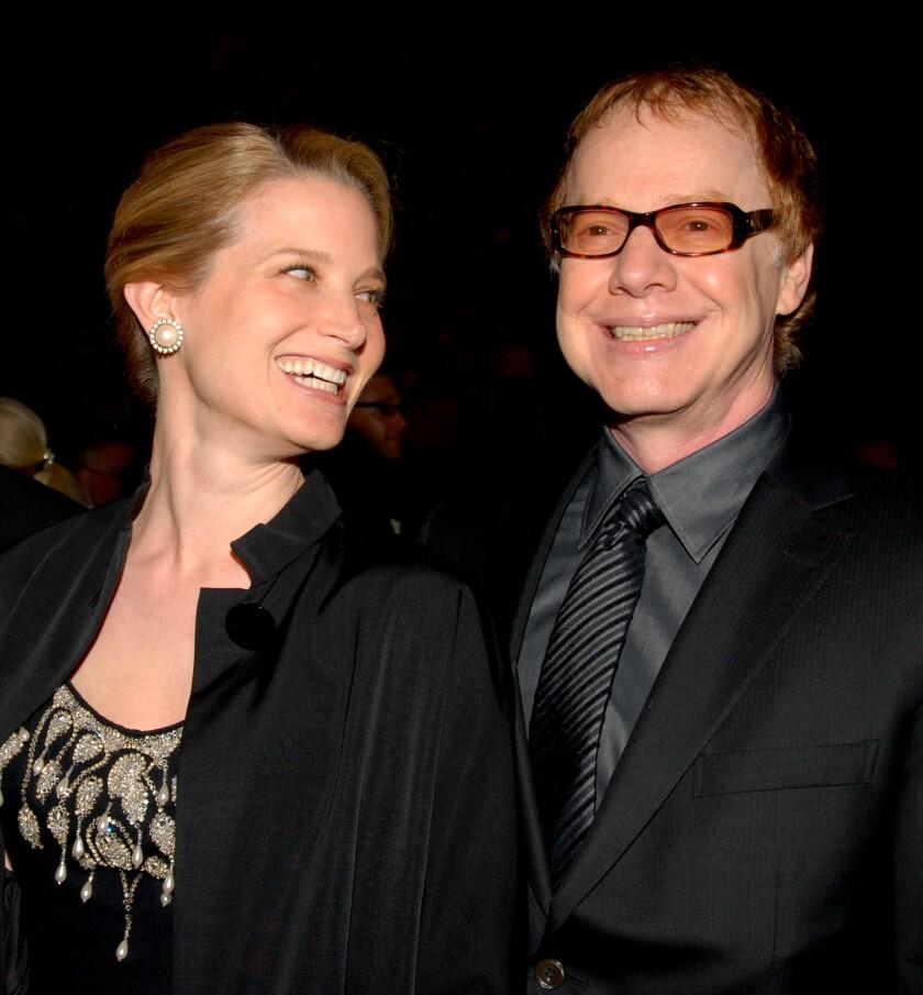 Bridget Fonda and Danny Elfman.