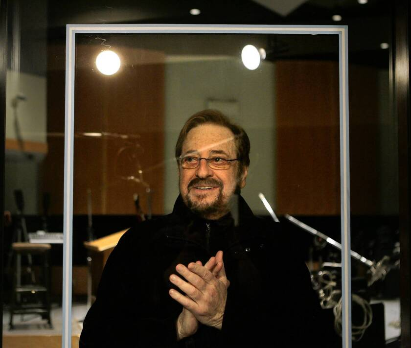 Phil Ramone stands inside Studio B of the Capitol Records building in Hollywood in 2008. Ramone was known for forging close creative relationships with artists and for the sumptuous sounds of his work, which typified an era of lavish recording budgets.