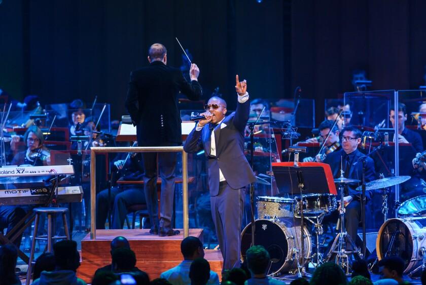 "Rapper Nas performs his classic debut album, ""Illmatic,"" in 2014"