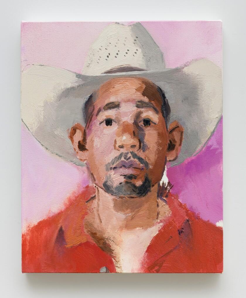 "John Sonsini's ""Fernando,"" 2019. Oil on canvas, 72 by 60 inches"