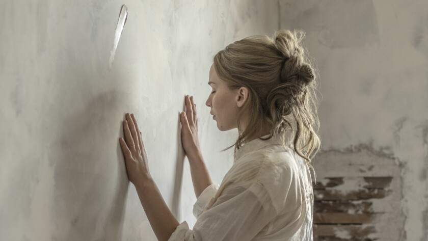 "This image released by Paramount Pictures shows Jennifer Lawrence in a scene from ""mother!"" (Niko Ta"