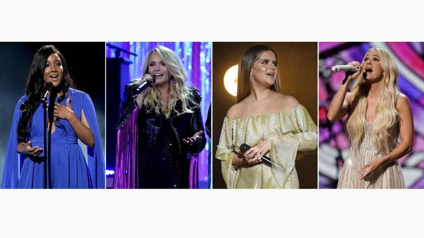 Mickey Guyton, Miranda Lambert, Maren Morris y Carrie Underwood