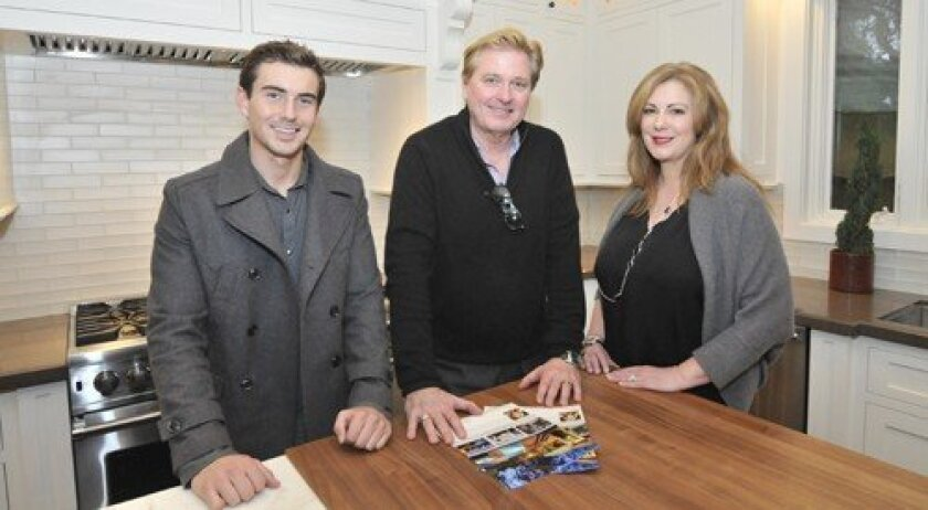Property developers Dean Gehrke and Mark McClure with listing agent Cathleen Shera (Photo/McKenzie Images)