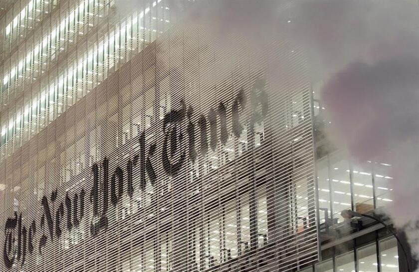 Vista del edificio sede del New York Times en Nueva York (EEUU). EFE/Archivo