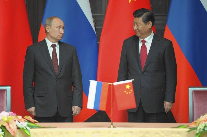 Vladimir Putin, Xi Jinping in Shanghai
