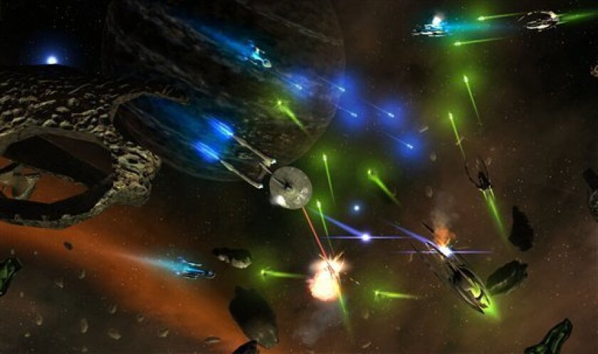 """In this video screen image released by Bender/Helper Impact, a scene is shown from the downloadable game """"Star Trek: D.A.C."""" (AP Photo/BH Impact)"""