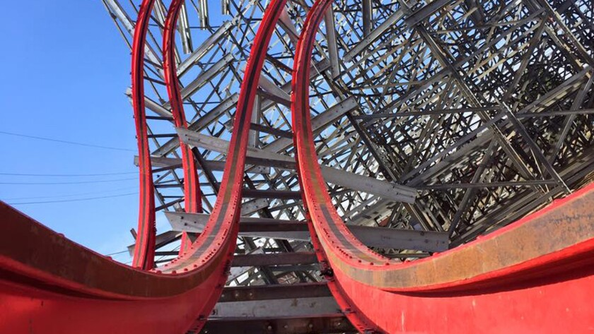Kentucky Kingdom is converting the Twisted Twins wood-steel hybrid dueling coaster into the Storm Chaser out-and-back steel coaster.