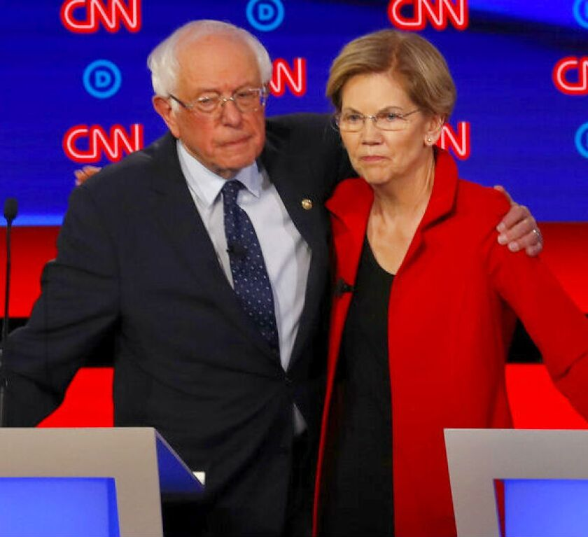 Opinion: It's time for Bernie and his bros to get behind Elizabeth Warren