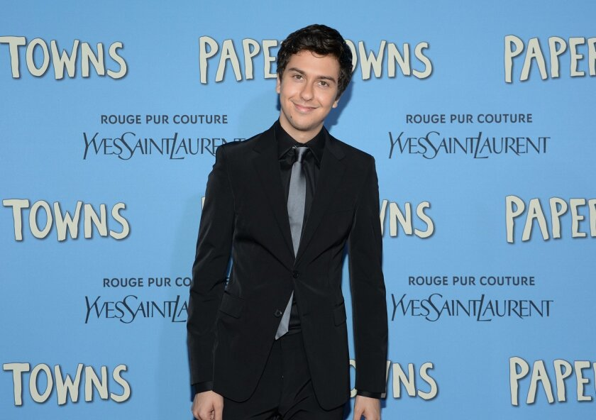 """FILE - In this July 21, 2015 file photo, actor Nat Wolff attends the premiere of """"Paper Towns"""" in New York. In February 2016, Wolff, 21, is starring in Sam Shepard's """"Buried Child,"""" the same Midwest Gothic comedy his mother, Polly Draper, starred in 37 years ago at Yale Repertory Theatre. (Photo by"""