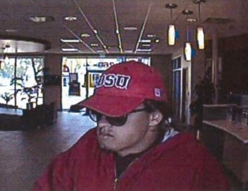 Police say this man robbed three credit unions, saying he had a bomb.