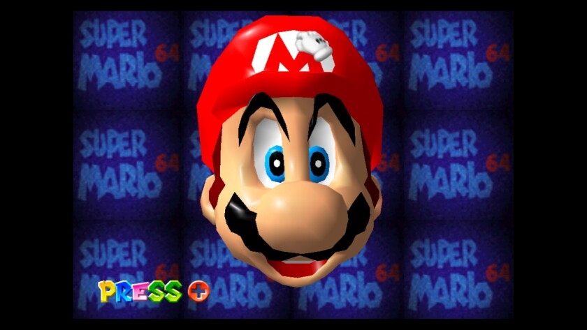Upon booting up 'Super Mario 64,' players could interact with Mario's face.
