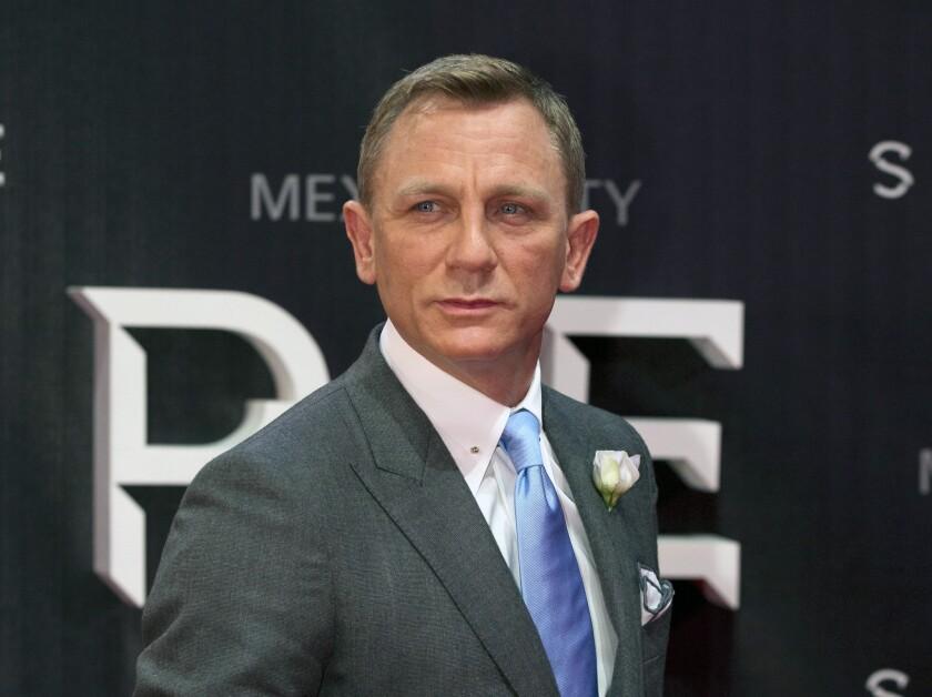 "Daniel Craig at a premiere of the Bond film ""Spectre"" in 2015."