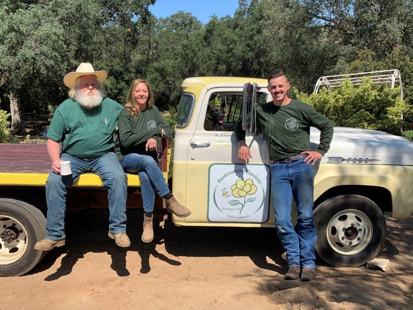 Backcountry Gardens in Ramona is a family affair; from left, Doug Barnett, Lisa Barnett and DougE Barnett.