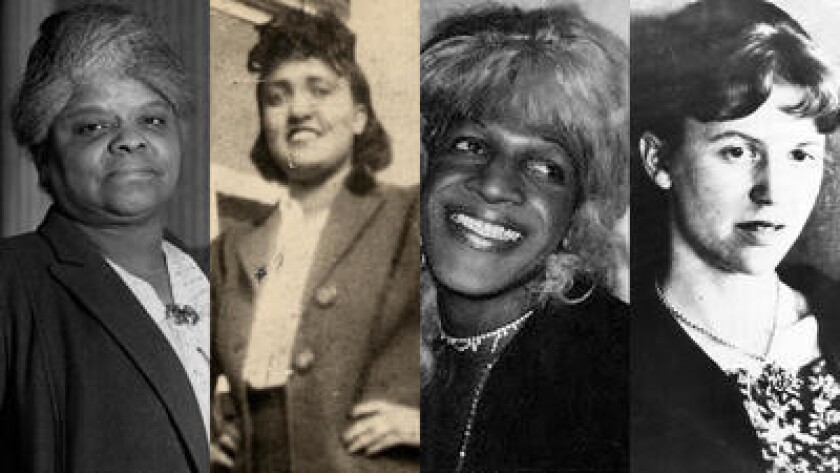 From left: Ida B. Wells, Henrietta Lacks, Marsha P. Johnson and Sylvia Plath. Credits: Getty, AP, Ne