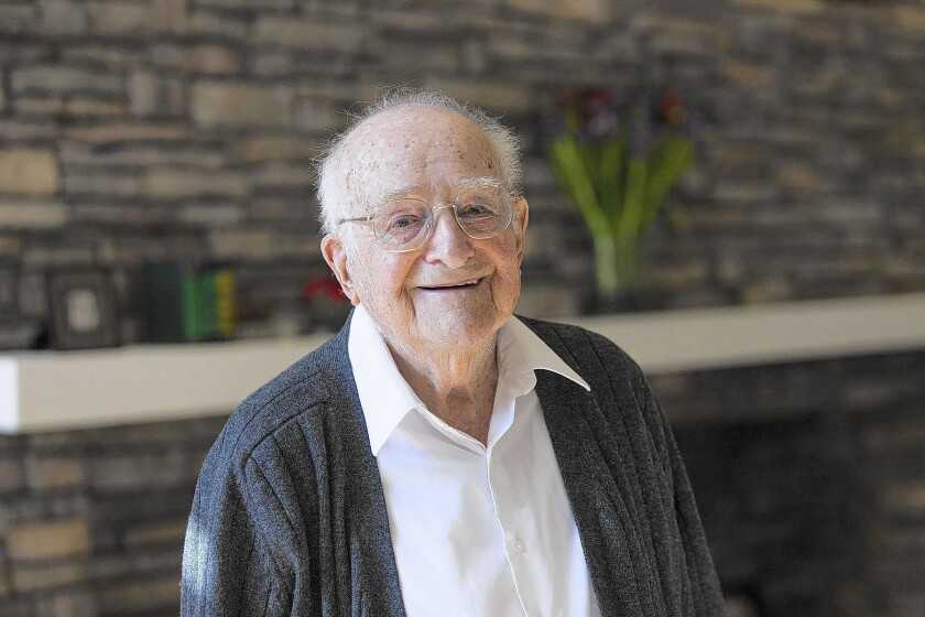 Dr. Morris Collen, shown a few months before his 100th birthday, was one of the first doctors in the country to administer penicillin.