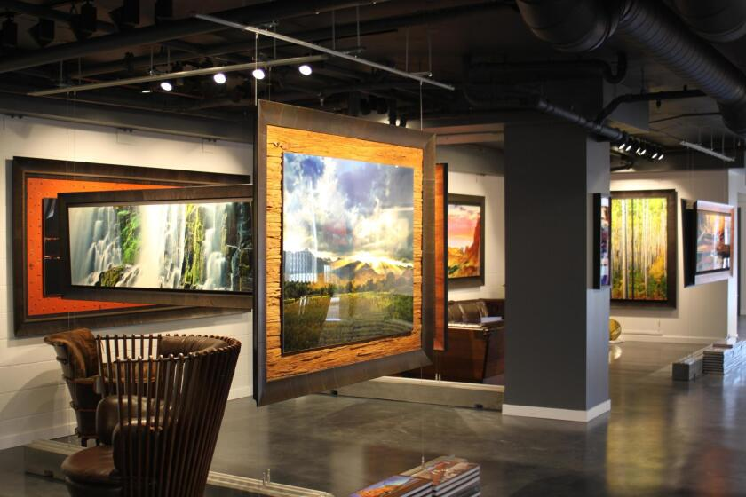Works by Jeff Mitchum line the walls of his namesake gallery.