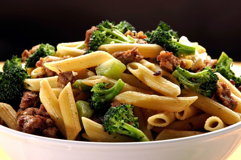 Pasta with broccoli and Italian sausage