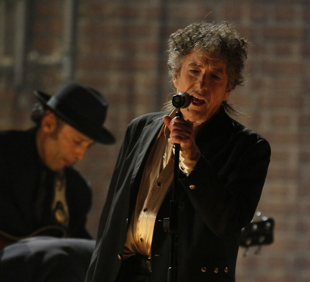 Musician Bob Dylan wins the 2016 Nobel Prize in literature.