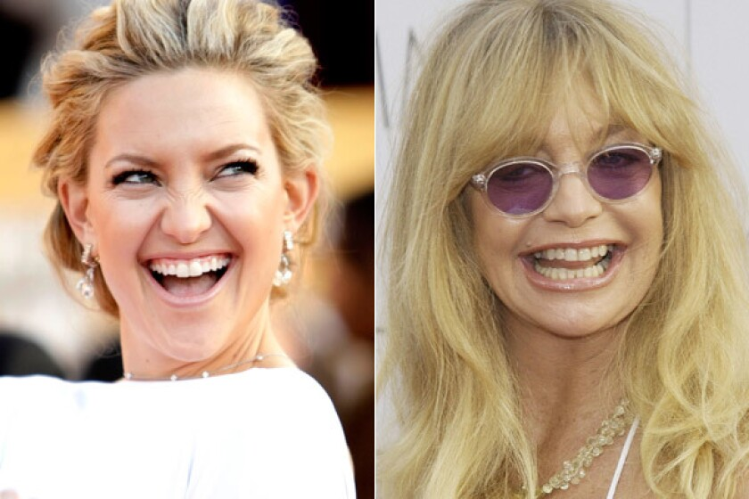 Actress Kate Hudson, left, and mother Goldie Hawn will soon appear on the first three-generation cover of People magazine.