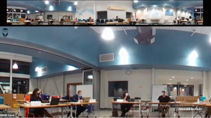 The SDUHSD board met virtually on Feb. 25.