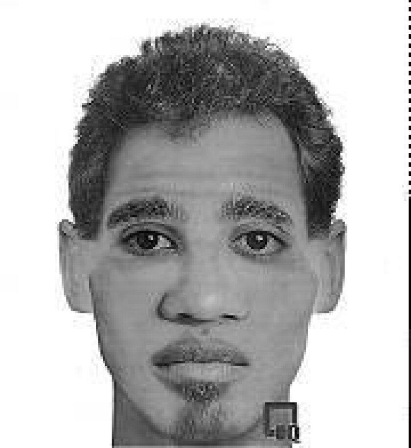 Police artist's drawing of attempted kidnapper.