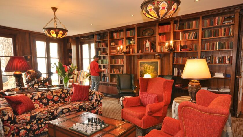 The library at Hovey Manor.