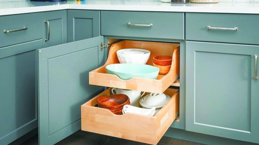 Roll-out trays make your cabinets much more accessible.