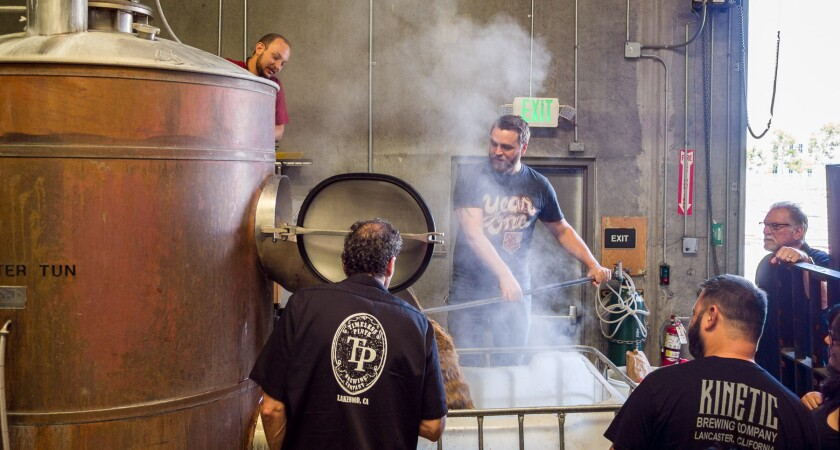 Brewers from Smog City Brewing, Timeless Pints, Santa Monica Brew Works, Kinetic Brewing and Alosta Brewing team up to brew Unity.