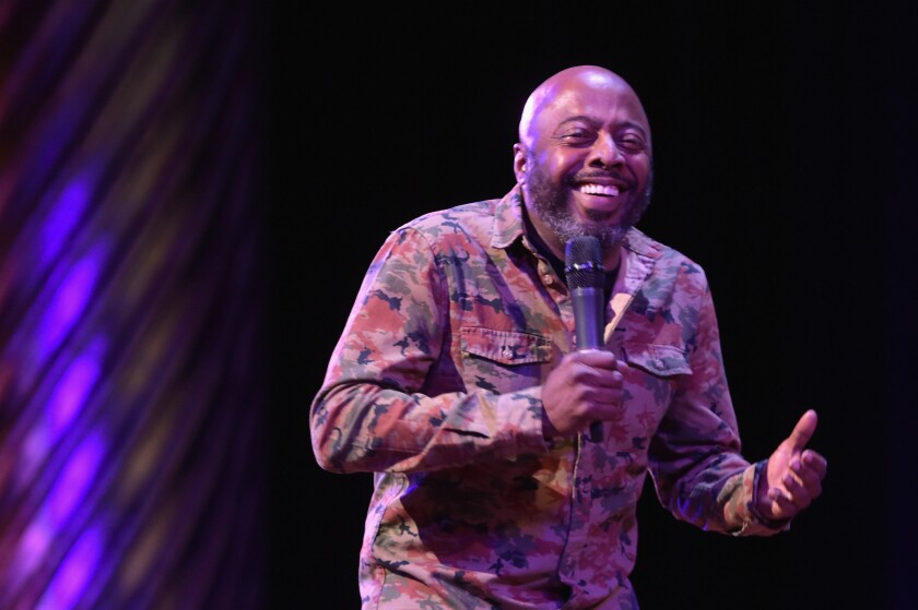A 2017 photo of Donnell Rawlings at TBS Comedy Festival