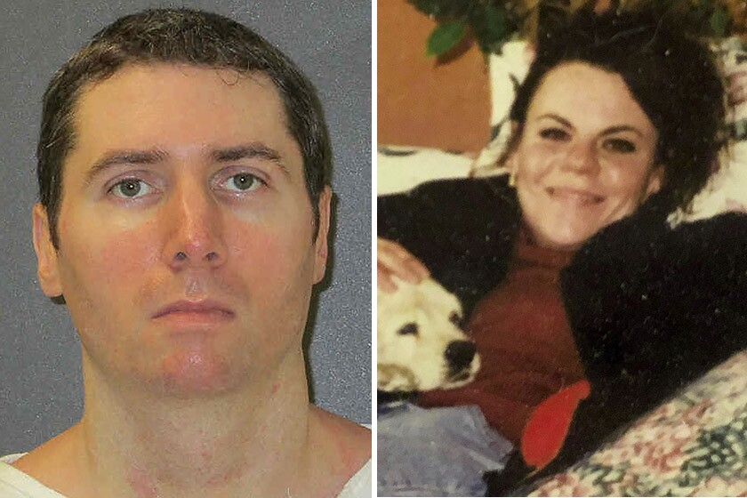 Prosecutors said Justen Hall killed 29-year-old Melanie Billhartz, pictured in a 1999 photo, with an extension cord from his drug house in El Paso in 2002 and then buried her body in the New Mexico desert.