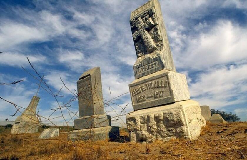 The Agua Mansa Pioneer Cemetery in Colton, Calif.