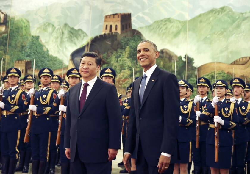 China's Xi Jinping and U.S. President Barack Obama in China laid out ambitious new targets to cut pollution.