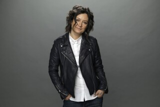 """Sara Gilbert of """"The Conners"""" is photographed at the Los Angeles Times studio for an Emmy Contender chat series."""