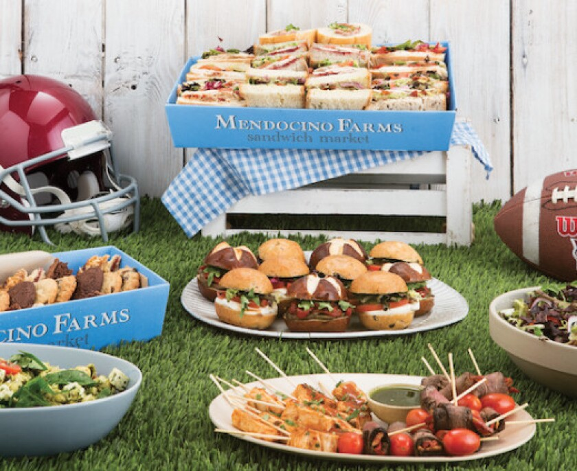 Enjoy catering deals from Mendocino Farms for all of your Super Bowl party needs.