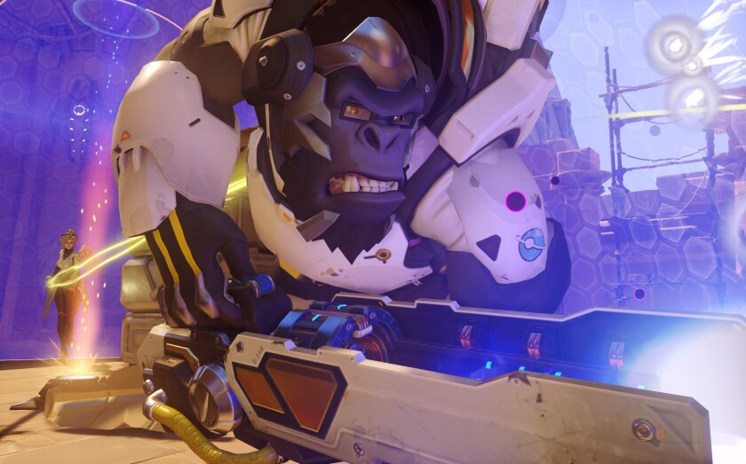 """Winston is a character in Blizzard Entertainment's team shooter """"Overwatch,"""" which now has 15 million players, including those who play at gaming cafes."""