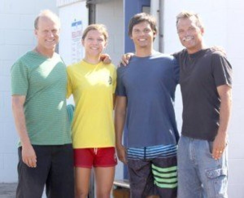 Lifeguarding family members (Uncle) James Earnest, Megan Earnest, James Earnest and John Earnest often sit down at the end of the day to swap stories.