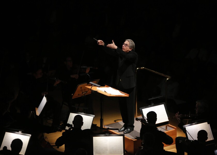 Michael Tilson Thomas conducts the L.A. Philharmonic on Friday.