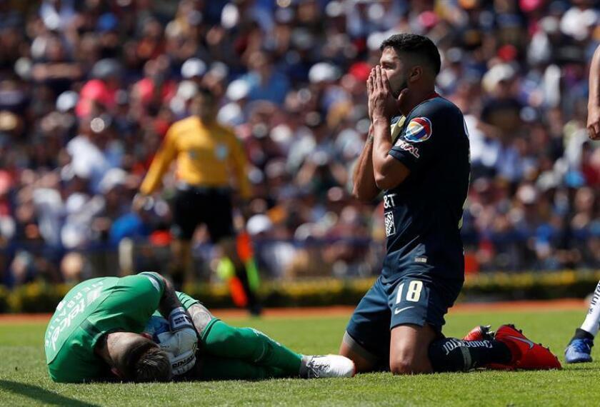 En la imagen, el jugador de América Bruno Valdez (d). EFE/Archivo