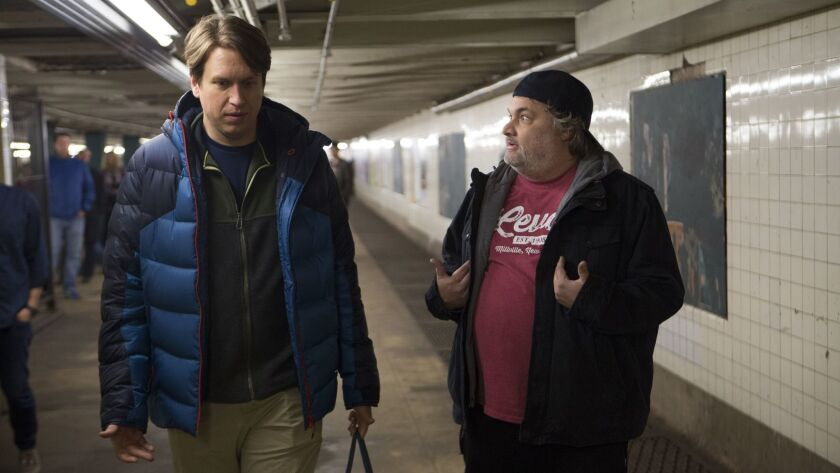 """Pete Holmes and Artie Lange star in the HBO series """"Crashing."""""""