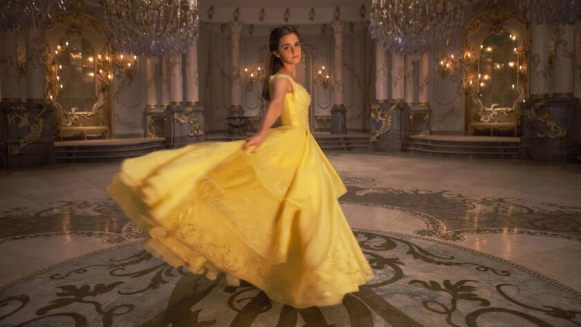 "Emma Watson as Belle in Disney's ""BEAUTY AND THE BEAST"", directed by Bill Condon. Credit: Laurie Spa"