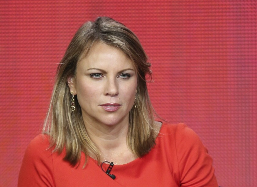 """News correspondent Lara Logan of """"60 Minutes Sports"""" speaks onstage during the Showtime portion of the 2013 Winter TCA Tour at Langham Hotel on January 12, 2013 in Pasadena, California."""