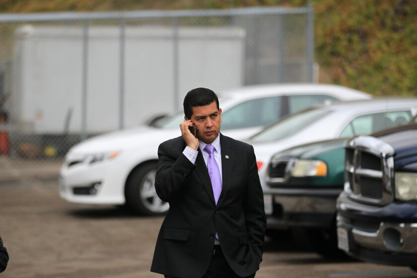 San Diego Councilman David Alvarez is pushing for an open government ballot measure that would, among other provisions, ensure that public business conducted on private devices and accounts would remain public by law. [U-T file]